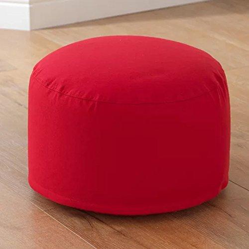 KidKraft 18694 Round Pouf - Red Plush by KidKraft