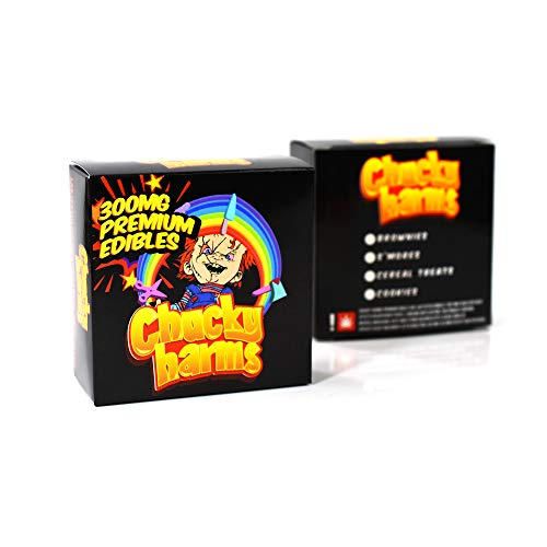EMPTY Chucky Harms Display Boxes Packaging for Natural Edibles 3 x 3