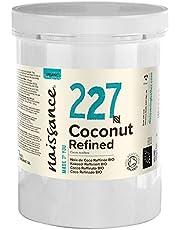Naissance Organic Refined Coconut (Solid) Olja (#227) 1kg - Pure, Natural, Certified Organic, Cruelty Free, Vegan - Hydrating & Hydrating - Idealisk för aromaterapi, hudvård, hårvård & DIY skönhet