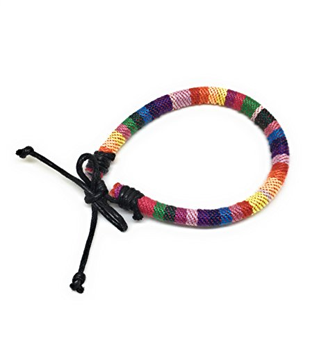 LGBT Woven Handmade Braided Friendship Gay  Lesbian Bracelet (LGBT Round style)