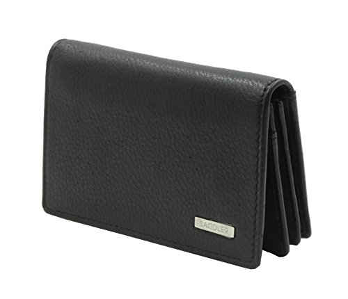SADDLER GENTS Soft Nappa Gusseted Business Card (Gusseted Business Card Case)