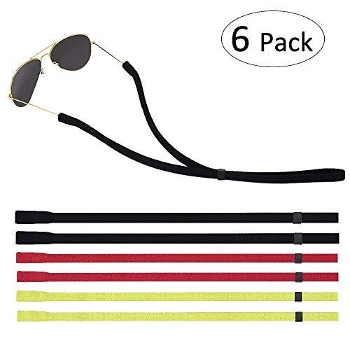 Lelife Glasses Strap Sunglass Straps Eye Glasses String Holder Set of 6 (2XRed 2XGreen 2XBlack)
