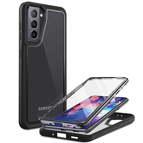 Funda para Galaxy S21 protector de pantalla (Negro)