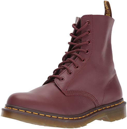 Dr. Martens Women's Pascal Combat Boot, Cherry Red Virginia, 8 UK/10 M US