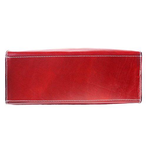 grand Double À La Main Vrai Avec Sac Leather Et Tamponè Cuir Vache En 6418 Rouge Épaule Market De Lanière Florence 8qfwTFxAc
