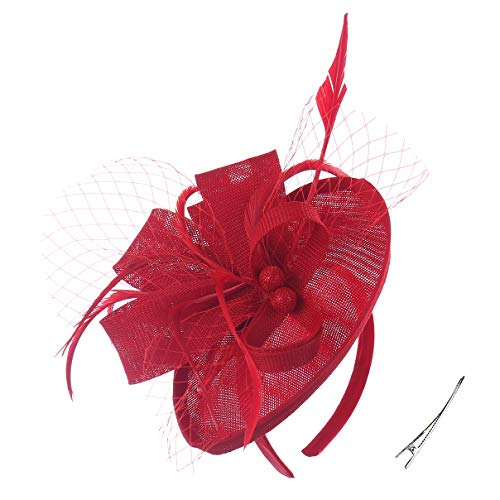 Felizhouse Fascinator Hats for Women Ladies Feather Cocktail