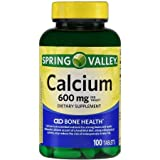 Spring Valley – Calcium with Vitamin D 600 mg, 100 Tablets Review