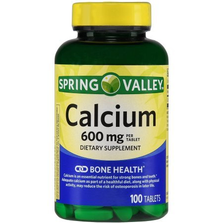 Spring Valley - Calcium with Vitamin D 600 mg, 100 (600 Mg 100 Tabs)