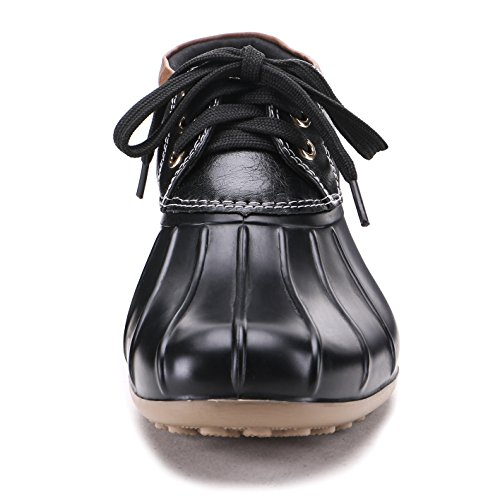 2 Duck Rain Womens Boots Waterproof Fashion Black TONGPU 0A84w17qx7