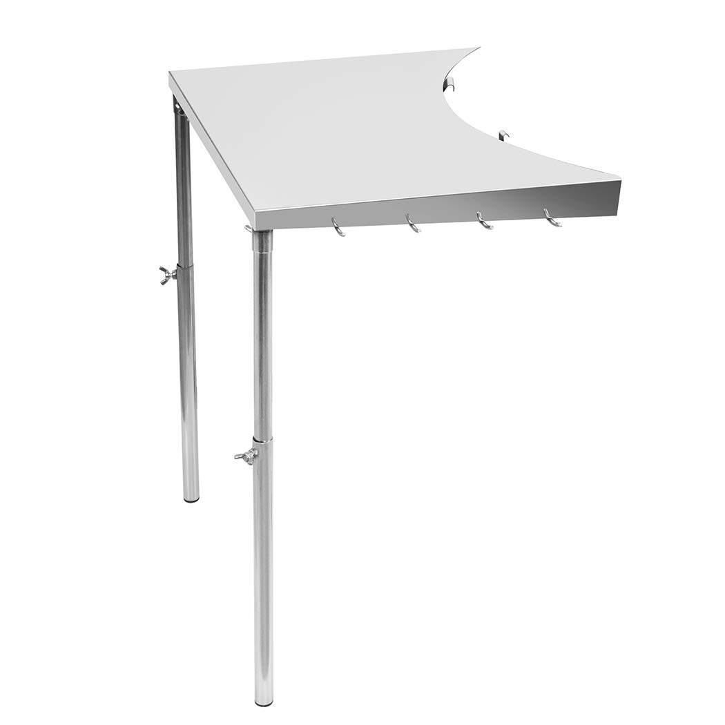 Stanbroil Stainless Steel Work Table Fits All Weber 18'', 22'', 26'' Charcoal Kettle Grills and Other Similar Size Charcoal Kettle Grills -Patent Pending by Stanbroil