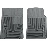 Husky Liners 51112 Semi-Custom Fit Heavy Duty Rubber Front Floor Mat - Pack of 2, Grey by Husky Liners