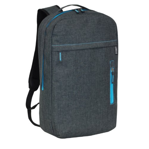 Everest Trendy Lightweight Laptop Backpack, Charcoal, One Size