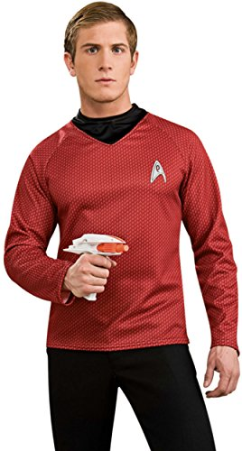 [Star Trek Movie Deluxe Red Shirt, Adult Large Costume] (Haloween Adult Costumes)