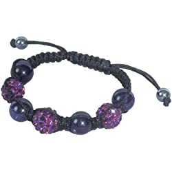 SHAMBALA Jewelry Making Kit, Amethyst and Blue Goldstone