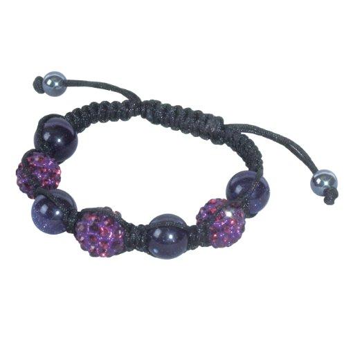 Genuine Bracelets Goldstone - SHAMBALA Jewelry Making Kit, Amethyst and Blue Goldstone