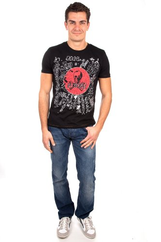 Amplified Herren kurzarm T-Shirt Ultimate La Rocka Asia Black Swarovski