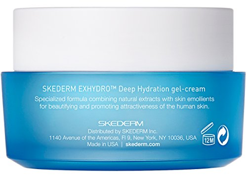 SKEDERM EXHYDRO Deep Hydration Gel Cream 17 Fl Oz 50ml Daily Moisturizer Cream With Fermented Natural Ingredients Such As Soybean Cylindrical Root Sunflower Seed And Rosemary Leaf