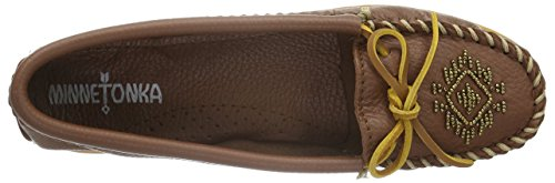 Minnetonka Women's Deerskin Beaded Moccasin Loafers Shoes Carmel 2015 sale online cheap buy authentic outlet original nvGm4iL6o