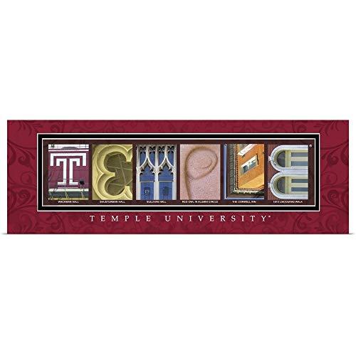 GREATBIGCANVAS Poster Print Entitled Temple - Temple University Campus Letters by Campus Letter Art 36