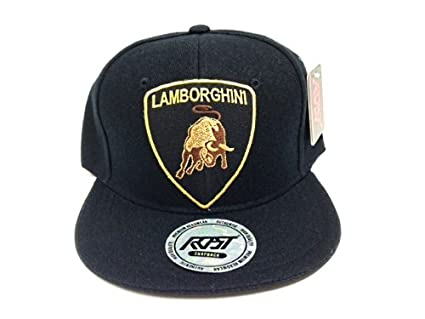 Custom Black Lamborghini Snapback Hat Cap  Amazon.co.uk  Kitchen   Home 20cc7ba646a