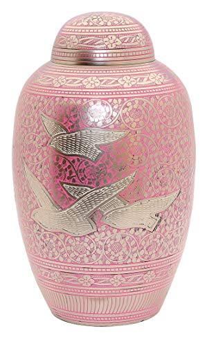 Adult Cremation Urn for Ashes Funeral Memorial Urn AMAZON STOCK CLEARANCE DEAL SKU 7864 Pink Going Home by UrnsWithLove