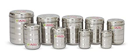 d839be054 Image Unavailable. Image not available for. Colour  HAZEL Kitchen Storage  Steel Container ...