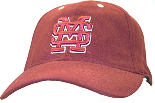 NCAA Licensed Mississippi State Bulldogs Maroon Embroidered Logo Baseball Hat Cap -