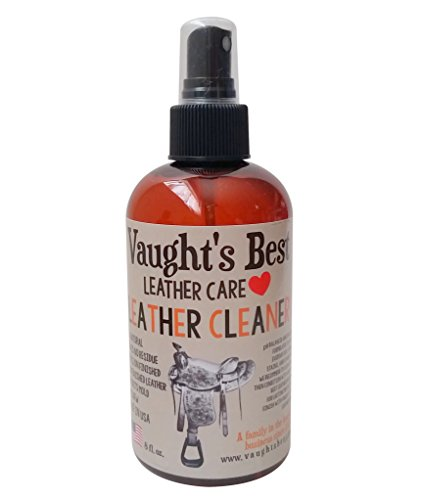 Vaught's Best Leather Cleaner 8oz, Family Leather Business since 1926, Great for Waterproofing, Conditioning Apparel, Furniture, Auto Interiors, Shoes, Bags, Accessories. Non-Toxic, Made in USA