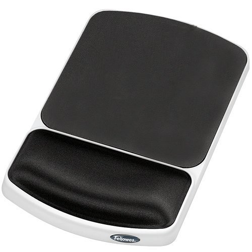 Fellowes Gel Mouse Pad with Wrist Rest Gray 91741 Pack Of 4