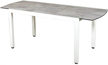 LES JARDINS Table Extensible Aluminium Ticao Gris Anthracite ...