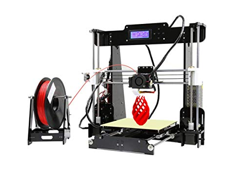 ANET A8 3D Printer,Desktop Acrylic LCD Screen Printer 220 x 220 x 240mm Compatible with Windows XP/7/8/10, Mac, Linux