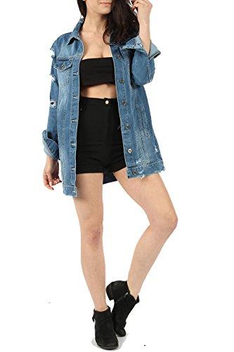 7 Fashion Road Damen Jacke blau denim-blau
