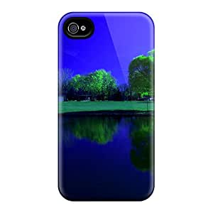 New Design Shatterproof CSNQprn1624FZNsU Case For Iphone 4/4s (river Reflection)
