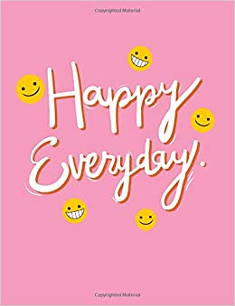 com happy everyday grid notebook quotes cover large