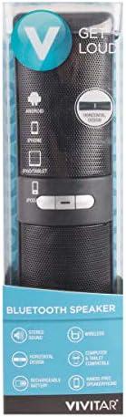 Get Loud Vivitar Wireless Rechargeable Bluetooth Speaker Water Resistant