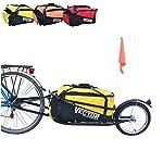 Polironeshop-Vector-Rimorchio-Carrello-per-Bici-Bicicletta-monoruota-con-Borsone-Borsa-Zaino-Trasporto-Materiale-Merce-Spesa-cicloturismo