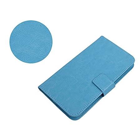 TienJueShi Rosa Book Style Funcion de Soporte Funda Caso Carcasa Proteccion Cuero Skin Case Cover Etui para Doogee Y6 MAX 6.5 Inch