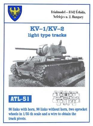 Friulmodel ATL51 1/35 Metal Track w/Drive Sprockets for KV-1 & KV-2  Light  type