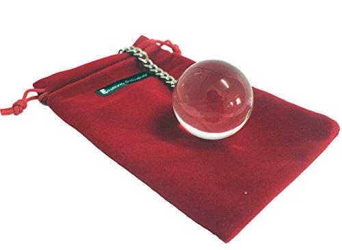 Eastern Delights Magic Ben Wa Ball Kegel Ball with Metal Chain, Clear (Medium - Balls Metal Duotone