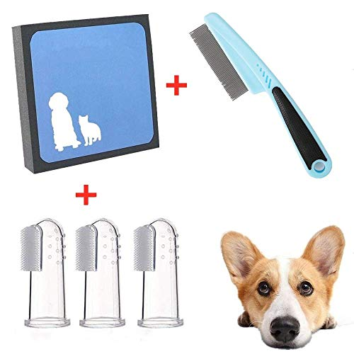 Junshu Hair Cleaner for Pet,Easy Pet Hair Cleaner and Pet Comb Set,Free to Send 3 Professional pet Toothbrush