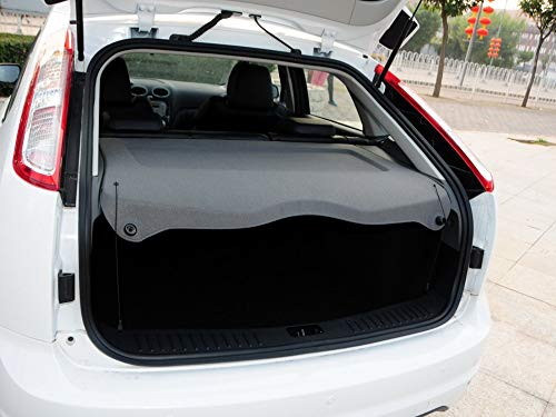 Focus Cargo - caartonn Cargo Cover Compatible for 2012 2013 2014 2015 2016 2017 Ford Focus Trunk Retractable Cargo Luggage Security Shade Cover Shield Black