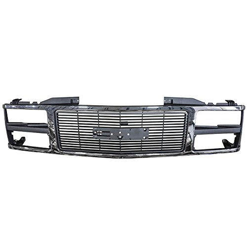 - Grille Grill Chrome Front End for GMC C/K 1500 2500 3500 Suburban Yukon