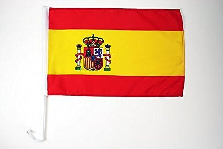 AZ FLAG Bandera de Coche de ESPAÑA 45x30cm - BANDERINA para Auto ESPAÑOLA 30 x 45 cm: Amazon.es: Hogar