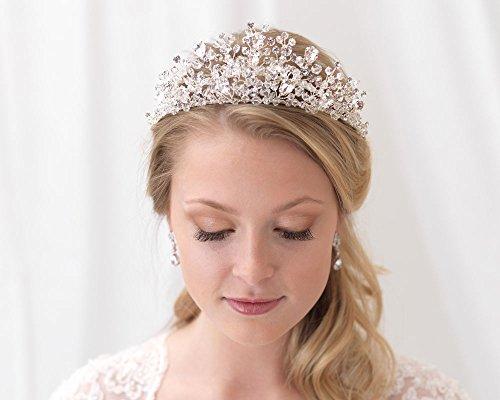USABride Swarovski Crystal Wedding Tiara Bridal Headpiece Crown Bride Wedding Day TI-3299