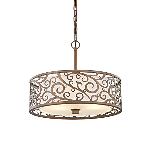 Burnished Gold Pendant - Fifth and Main HD-1073-I Carousel 3 Light 18