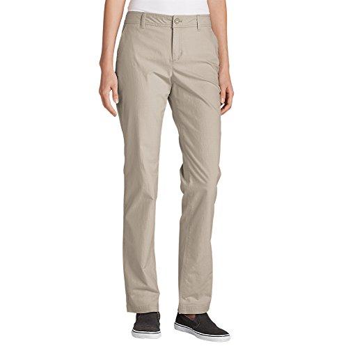 Eddie Bauer Women's Adventurer Stretch Ripstop Pants - Slightly Curvy, Pumice R,12,Pumice (Grey) ()