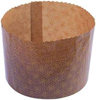 Pz 40 Stampo Per Panettoni Alti Forma Cottura Panettone Diametro Cm 7 Alto Cm 5 Da Gr 100 Amazon It Casa E Cucina