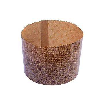 IMBALLAGGI ALIMENTARI Unidades 10 Molde para panettoni Altos Forma cocinar Panettone diámetro CM 17,2 Alto Cm 12,5 de gr 1000: Amazon.es: Hogar