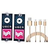 WildAuto Uber Lyft Sign Decor Accessories - Removable Ride share Decal - 2 Pcs (Type1)