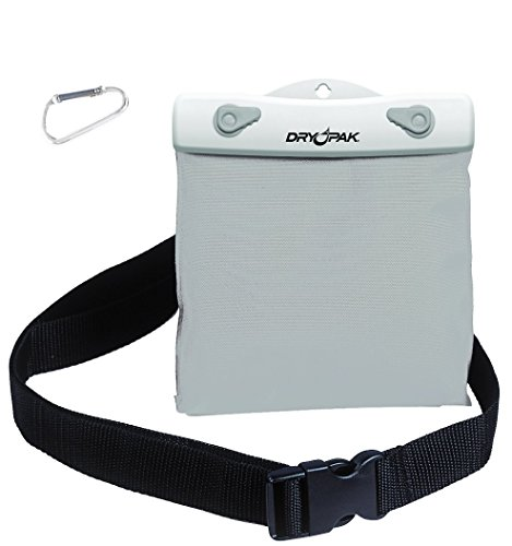 DRY PAK Nylon Belt Pack, White / Grey - 6 x 5 x 3/4